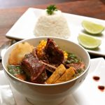 "Colombian food – The traditional soup ""Sancocho"""