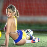 Colombian Models posing for the Brazil Word Cup 2014: Yenit Aguirre