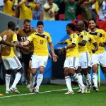 How Colombia celebrated the victory against Japan