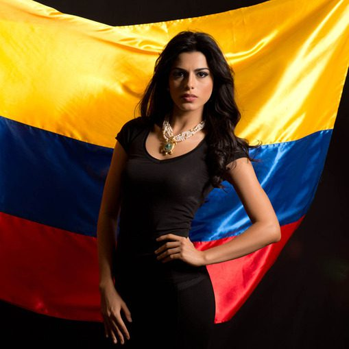 Colombian model lucia aldana represented colombia at miss universe