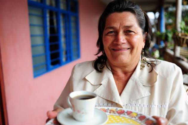 Colombian woman coffee