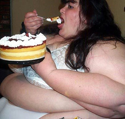 Fat Woman Eating1